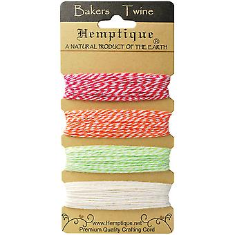 Hemptique Baumwolle Bakers Twine Card Set 2 Ply 410' Pkg Knistern Sommer Btc2 Ss
