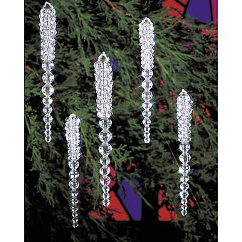 Holiday Beaded Ornament Kit Sparkling Icicles 3 3 4
