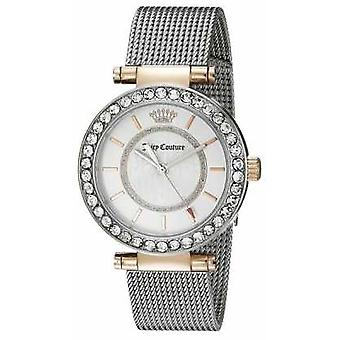 Juicy Couture Womens Silver Plated Strap White Dial 1901375 Watch