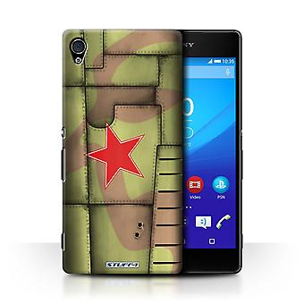 STUFF4 Case/Cover for Sony Xperia Z4v/E6508/Soviet/Green/Airplane Fighter Wing