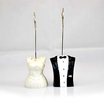 Wedding Name Table Number Place Card Holder Mr and Mrs Style