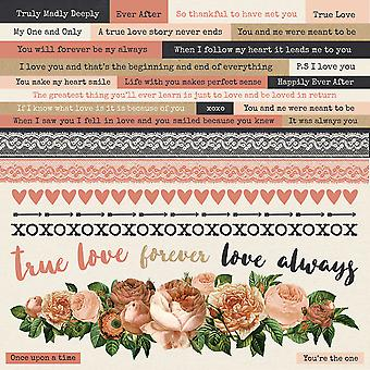 Always & Forever Cardstock Stickers 12