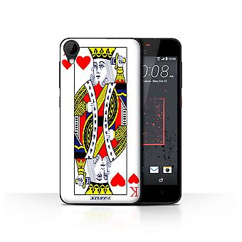 STUFF4 Case/Cover for HTC Desire 825/King of Hearts/Playing Cards