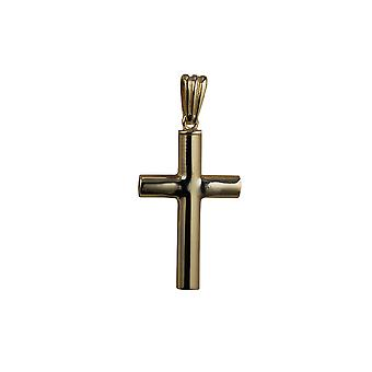 9ct ouro 32x18x4mm artesanal simples Memorial Cruz