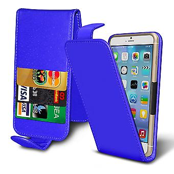 ( Blue ) Case For HomTom HT17 Faux Leather Holdit Spring Clamp Adjustable Flip Case HomTom HT17 Cover By i-Tronixs