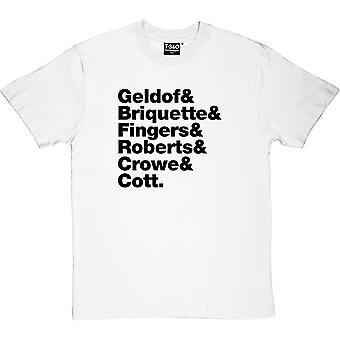 The Boomtown Rats Line-Up Men's T-Shirt