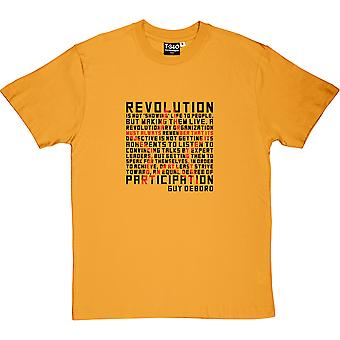 Guy Debord Revolution Zitat Herren T-Shirt