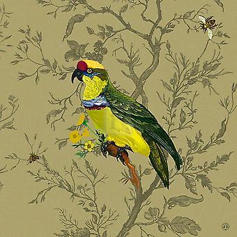 Pisticule Parrot Poster Print by schichtige beestjes (16 x 16)