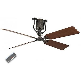 "Ceiling Fan Roadhouse Pewter 152 cm / 60"" cherry tree / beech"