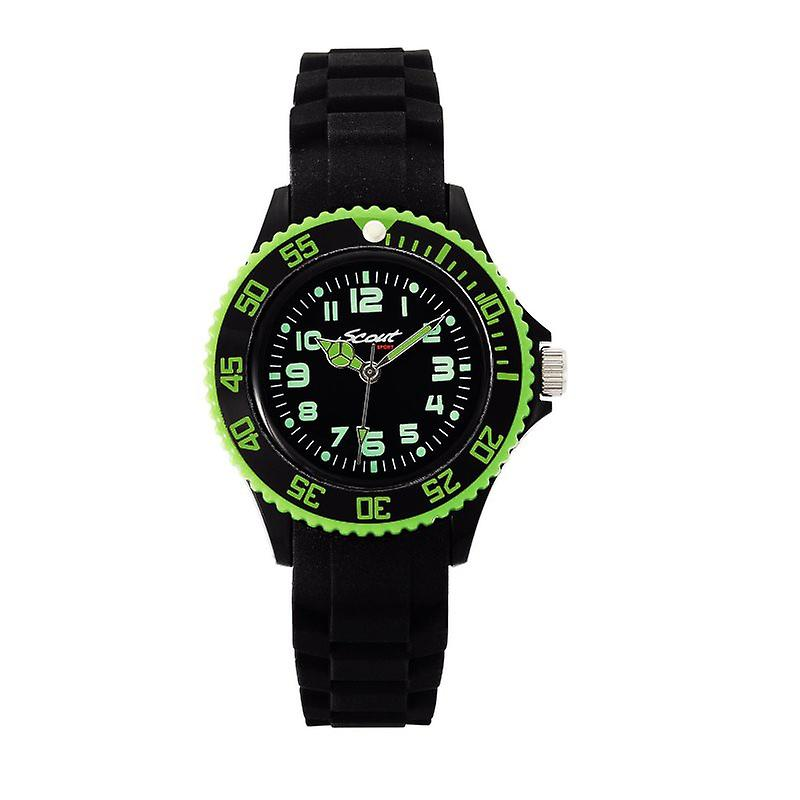 Scout Children clock Silikonuhr Cool Sporty black Boys Jungenuhr 280303000