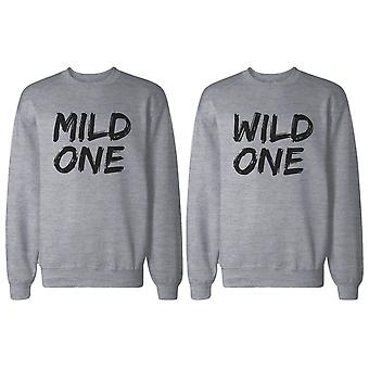 Milde und Wild eine BFF passenden grauen Sweatshirts für beste Freunde