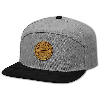 Brixton Oath 7 Panel Baseball Cap Heather Grey