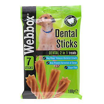 Webbox Dental Sticks 2 i 1 behandler 7 Stick (pakke med 10)