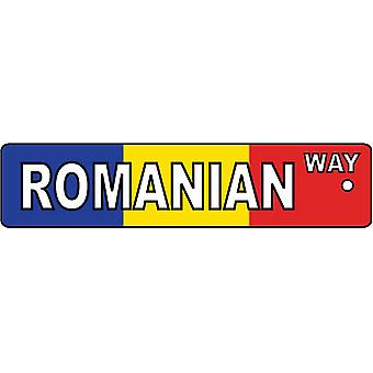 Romanian Way Street Sign Car Air Freshener