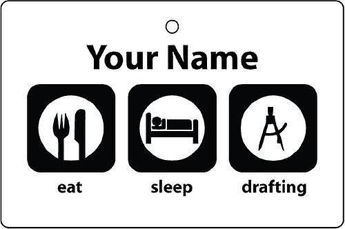Personnalisé Eat Sleep rédaction Désodorisant