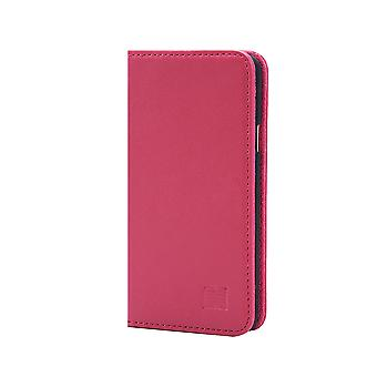 32nd Classic Real Leather Wallet for Samsung Galaxy A3 (2016) SM-A310 - Rose Pink