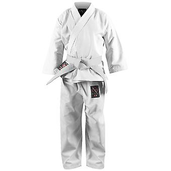 Hayabusa Musha Youth Karate Gi - White - kimono taekwondo kids