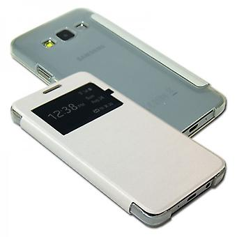 Smart Cover pour Samsung Galaxy White Window A3 A300 A300F
