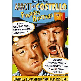 Abbott & Costello - Abbott og Costello: sjoveste rutiner, Vol. 1 [DVD] USA import