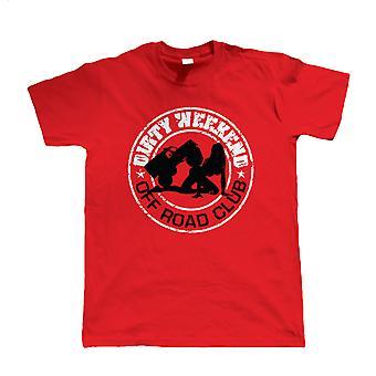 Vuile Weekend Off Road Club, Mens grappig T-Shirt