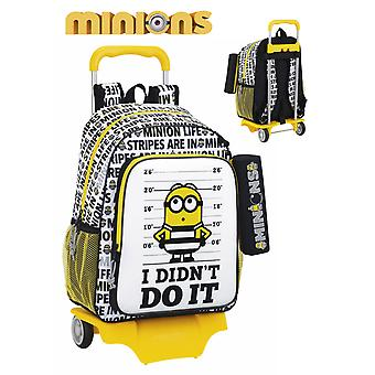 Safta Minions Mochila Carro Con Portatodo 33X43X15 (Toys , School Zone , Backpacks)