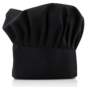 TRIXES Professional Kitchen Chef Hat Black