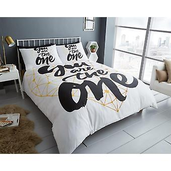 Your are the One Premium Printed Duvet Cover Bedding Set