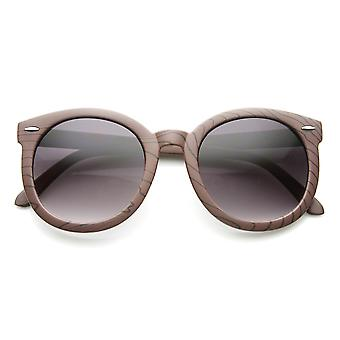 Moda retrô grande superdimensionada óculos de sol de madeira do falso