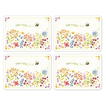 Cooksmart Bee Happy Pack of 4 Placemats