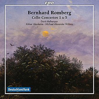 Romberg / Morillon / Akademie / Willens - Bernhard Romberg: importation USA Cello Concertos nos 1 et 5 [CD]