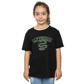 Harry Potter Girls Slytherin Sport Emblem T-Shirt