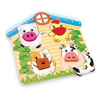 Legler Puzzle To Fit  animals  (Speelgoed , Kleuterschool , Puzzels En Blokkensets)