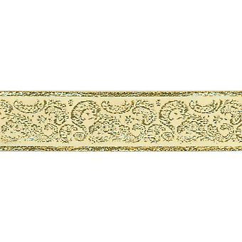 Golden Paisley Ribbon 1 1 2