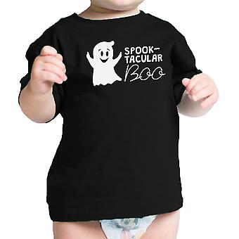 Spook-Tacular Boo Babys Halloween Outfit Cute Baby Tee Shirt Black