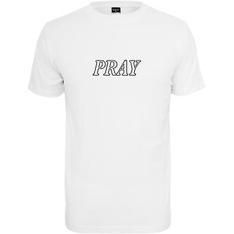 Mister Tee Shirt - PRAY HANDS weiß