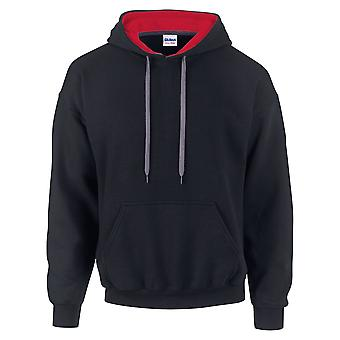 Gildan Mens Heavy Blend Contrast Hooded Sweatshirt / Hoodie