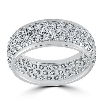 3 5/8ct Pave Diamond Eternity Ring 14K White Gold