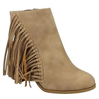 Spot On Womens/Ladies Fringed High Heel Ankle Boots