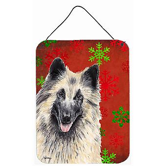 Belgian Tervuren Red Snowflakes Holiday Christmas Wall or Door Hanging Prints