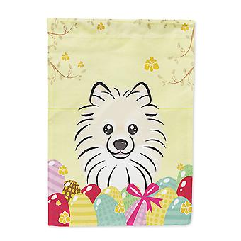 Carolines Treasures  BB1889CHF Pomeranian Easter Egg Hunt Flag Canvas House Size