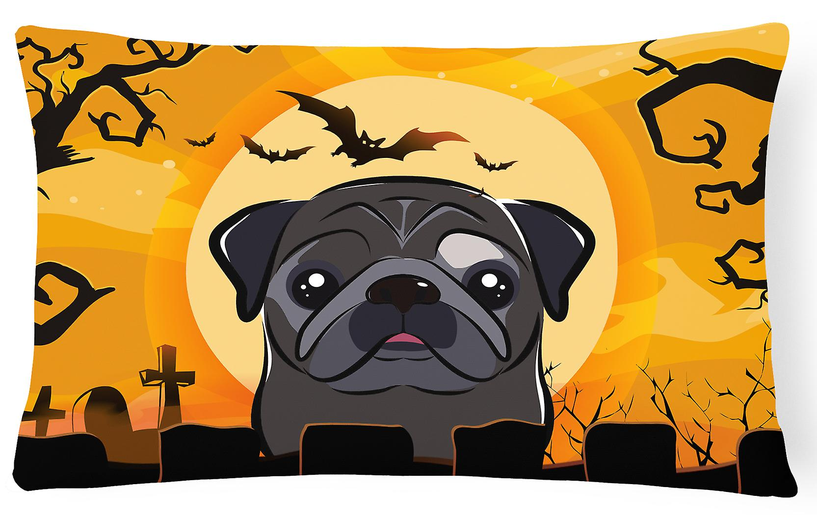 Tissu Des Noir Pug Halloween Oreiller Bb1821pw1216 Trésors Carolines Décoratif 0OXNwPk8nZ