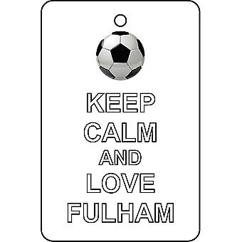 Keep Calm And Love Fulham Car Air Freshener