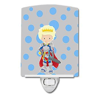 Carolines Treasures  BB8742CNL Blonde Boy Knight Ceramic Night Light