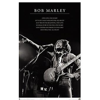 Bob Marley One Love Lyrics Poster Print (24 x 36)