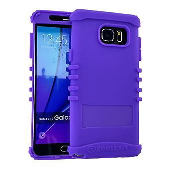 Rocker Series Silicone Skin Protector Case for Samsung Galaxy Note 5 (Light Purp