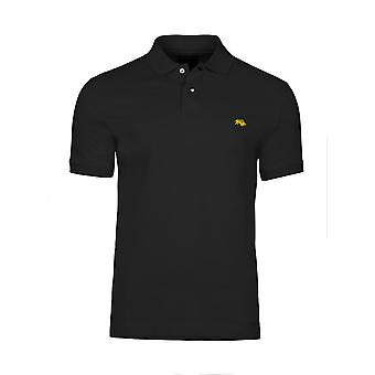 Muscle Fit Plain Polo - Black