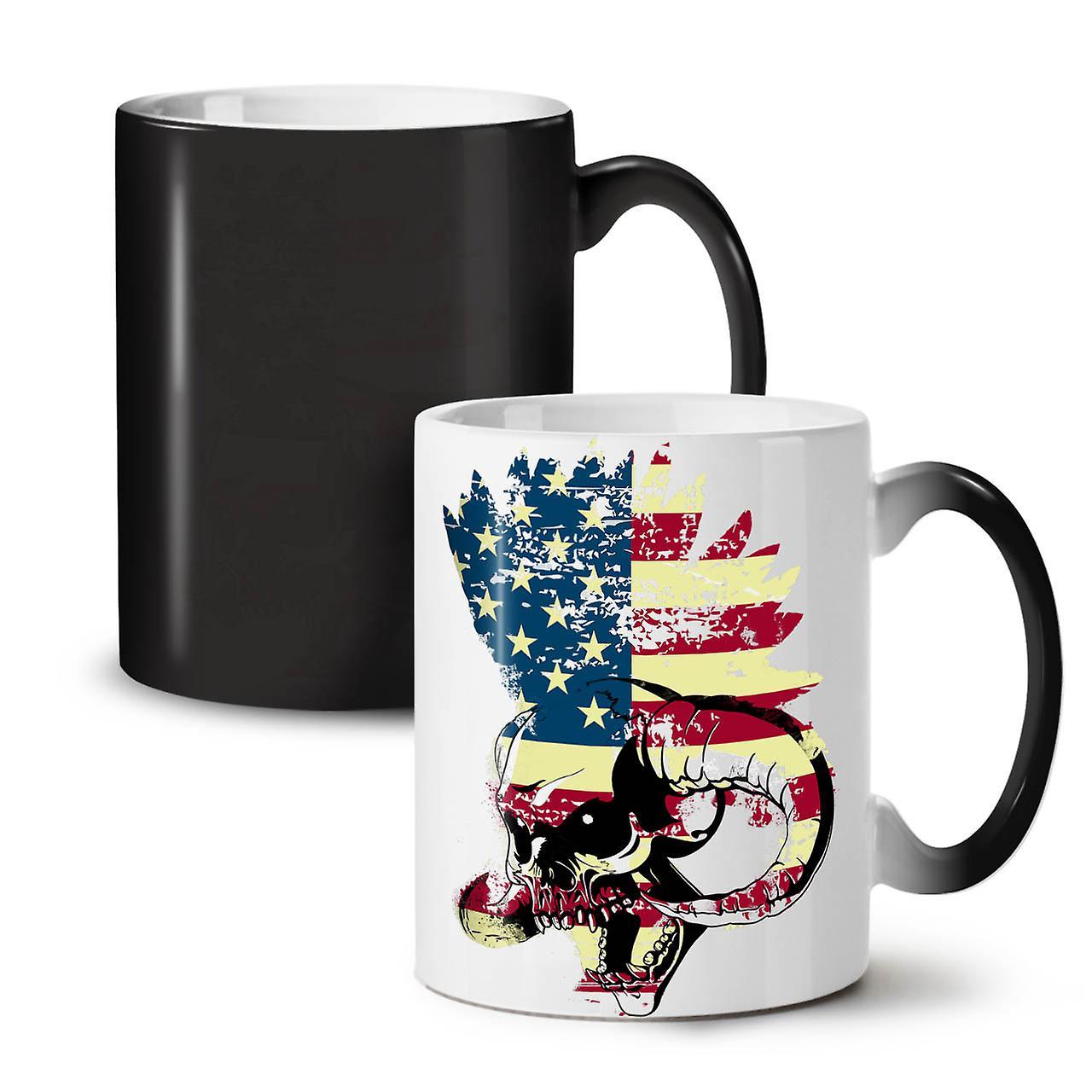 Funk 11 New Black Tea OzWellcoda Changing Ceramic Flag Mug Usa Coffee Metal Colour RScAq3j45L