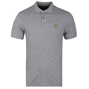 Lyle & Scott Flecked Mid Grey Marl Polo Shirt