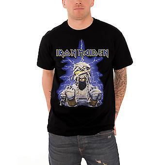 Iron Maiden T Shirt Powerslave Mummy Band Logo Official Mens New Black