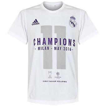 adidas Real Madrid UCL Champions League 2016 Winners Mens Tee / T-shirt